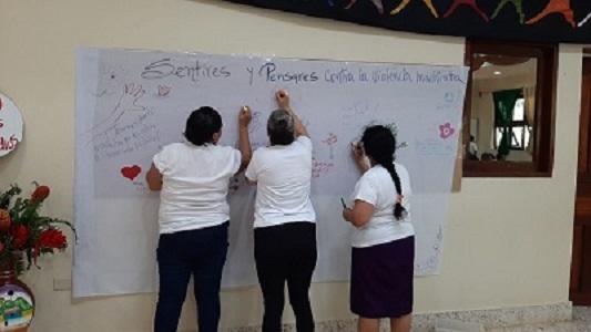 """En el foro contra la violencia """"Nos manifestamos con carnaval o sin el"""""""