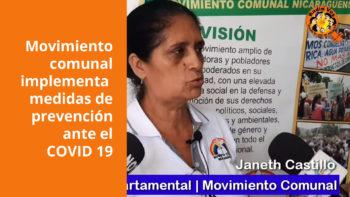 Movimiento comunal implementa medidas de prevención ante el COVID 19